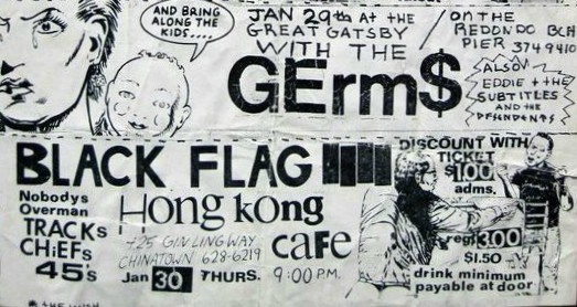Black Flag-Nobodys-Tracks-The Chiefs @ Los Angeles CA 1-30-80