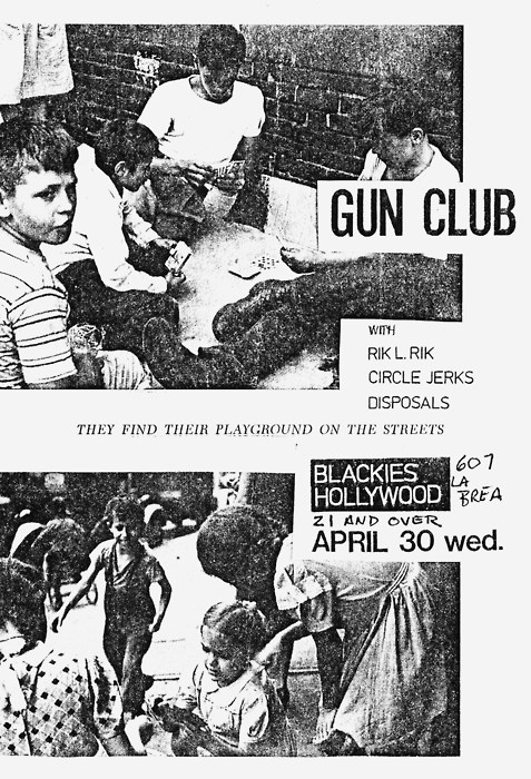 The Gun Club-Circle Jerks-Disposals @ Los Angeles CA 4-30-80