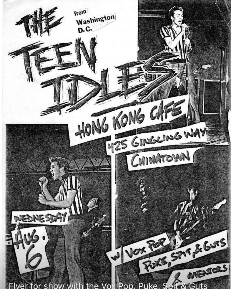 Teen Idles-Vox Pop-Puke Spit & Guts-Mentors @ Los Angeles CA 8-6-80