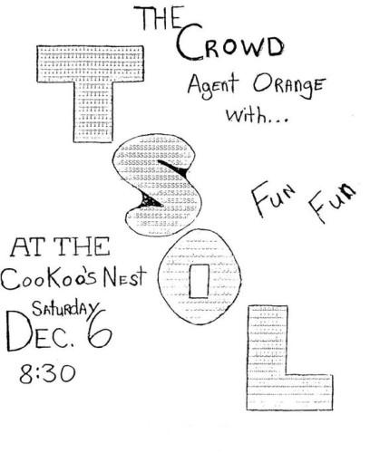TSOL-The Crowd-Agent Orange @ Costa Mesa CA 12-6-80