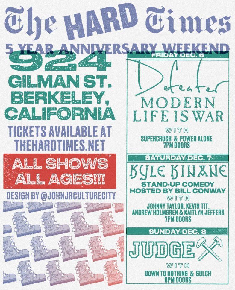 Dfeater-Modern Life Is War-Super Crush-Power Alone @ Berkeley CA 12-6-19