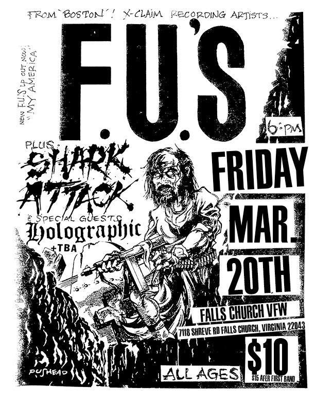 The FU's-Shark Attack-Holographic @ Falls Church VA 3-20-20
