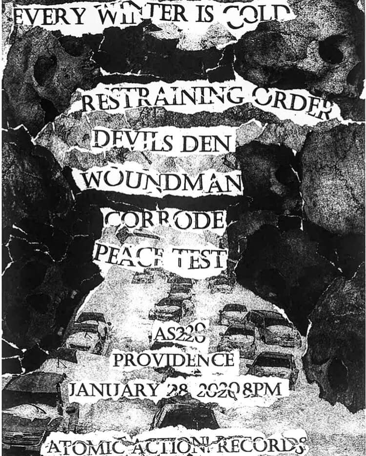 Restraining Order-Devil's Den-Wound Man-Corrode-Peace Test @ Providence RI 1-28-20