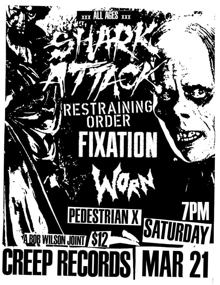 Shark Attack-Restraining Order-Fixation-Worn-Pedestrian X @ Philadelphia PA 3-21-20
