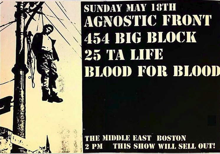 Agnostic Front-454 Big Block-25 Ta Life-Blood For Blood @ Boston MA 5-18-97