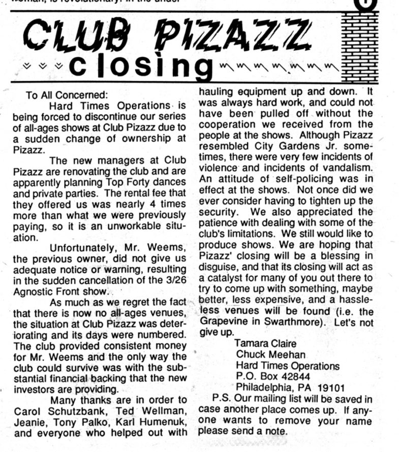 The Closing Of Club Pizazz