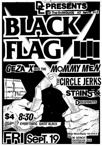Black Flag-Geza X & The Mommy Men-Circle Jerks-Stains-Descendents @ Los Angeles CA 9-19-80