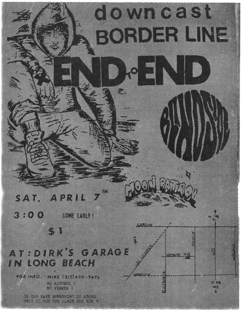 Down Cast-Borderline-End To End-Blindside @ Long Beach CA 4-7-90
