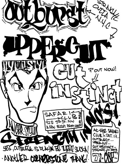 Outburst-Uppercut-Gut Instinct-Strength In Numbers @ Washington DC 1990