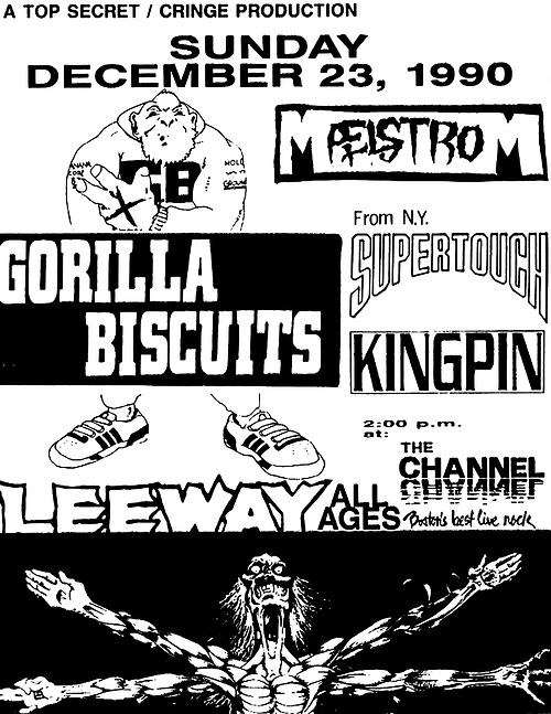 Gorilla Biscuits-Maelstrom-Supertouch-Leeway-Kingpin @ Boston MA 12-23-90