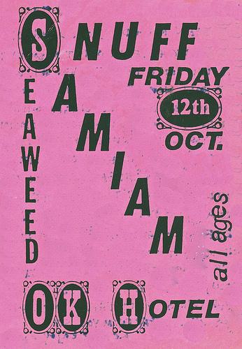 Seaweed-Samiam-Snuff @ Seattle WA 10-12-90