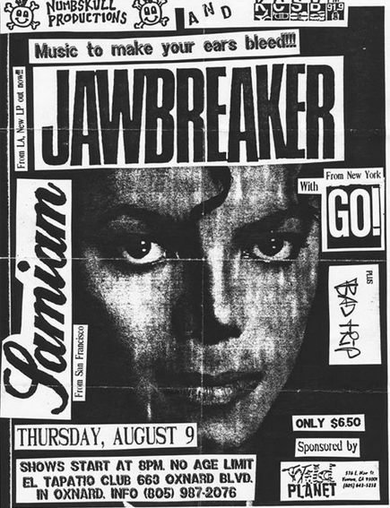 Jawbreaker-Samiam-Go!-Bad Trip @ Oxnard CA 8-9-90
