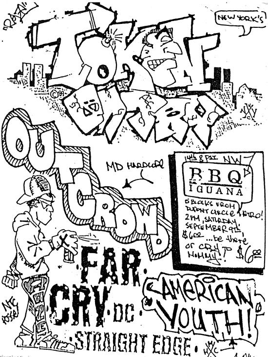 Token Entry-Outcrowd-Far Cry @ Washington DC 9-9-90