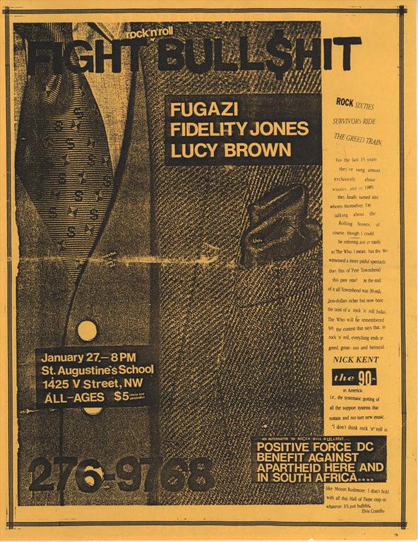 Fugazi-Fidelity Jones-Lucy Brown @ Washington DC 1-27-90