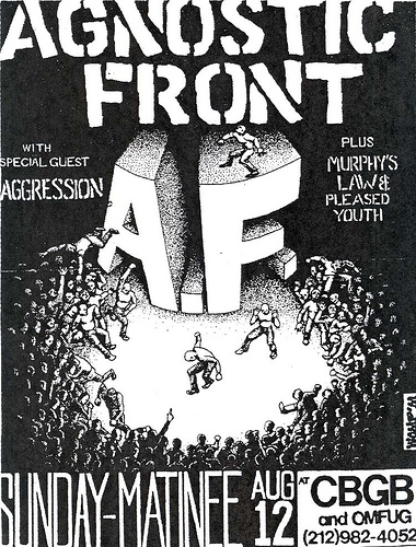 Agnostic Front-Aggression-Murphy's Law-Pleased Youth @ New York City NY 8-12-90