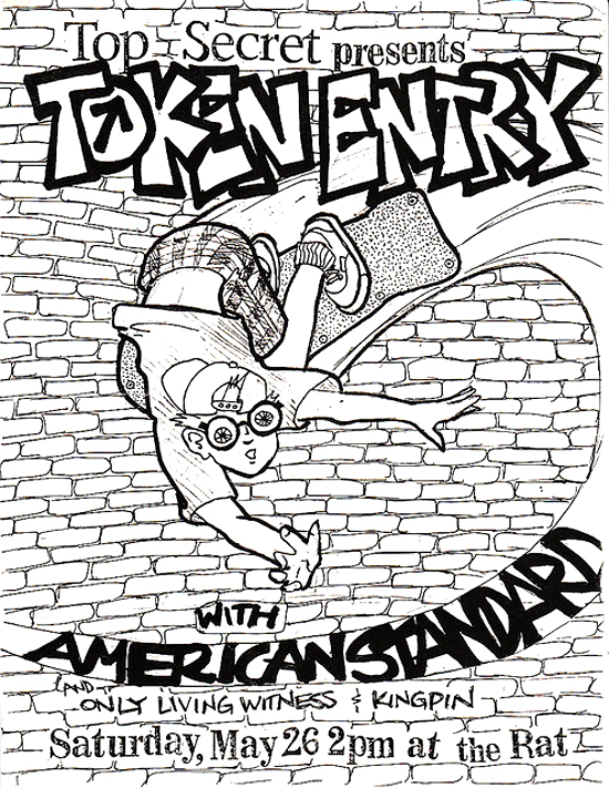 Token Entry-American Standard-Only Living Witness-Kingpin @ Boston MA 5-26-90