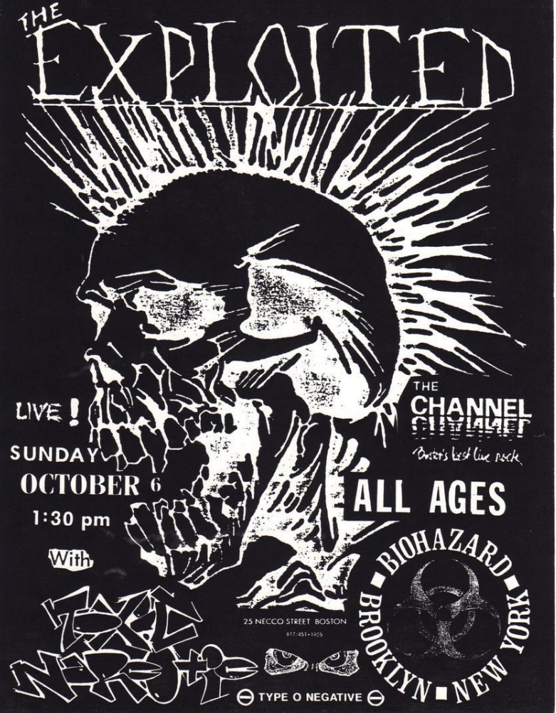 The Exploited-Toxic Narcotic-Type O Negative-Biohazard @ Boston MA 10-6-90