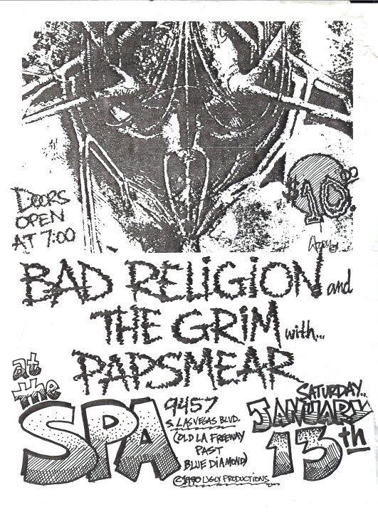 Bad Religion-The Grim-Pap Smear @ Los Angeles CA 1-13-90