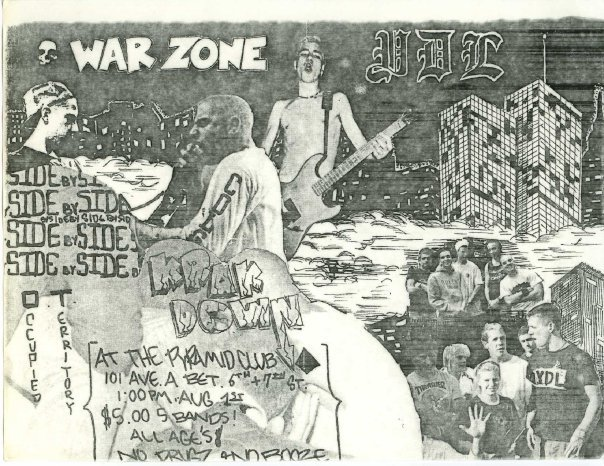 War Zone-YDL-Side By Side-Krakdown-Occupied Territory @ New York City NY 8-1-87