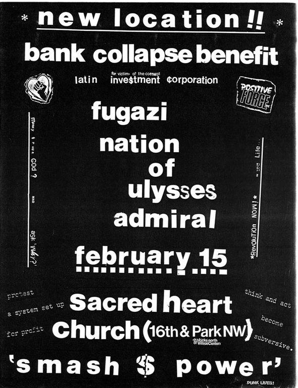 Fugazi-Nation Of Ulysses-Admiral @ Washington DC 2-15-91