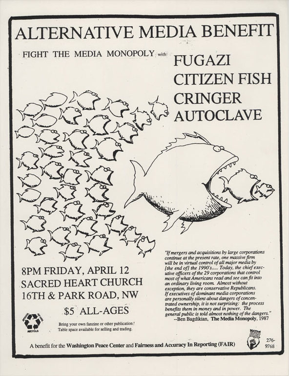 Fugazi-Citizen Fish-Cringer-Autoclave @ Washington DC 4-12-91