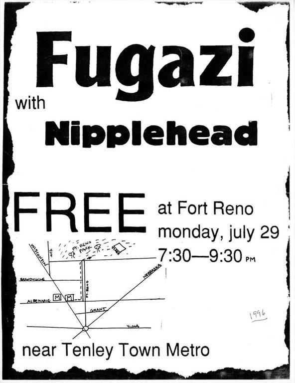 Fugazi-Nipplehead @ Washington DC 7-29-91