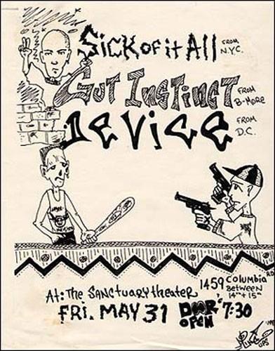 Sick Of It All-Gut Instinct-Device @ Washington DC 5-31-91