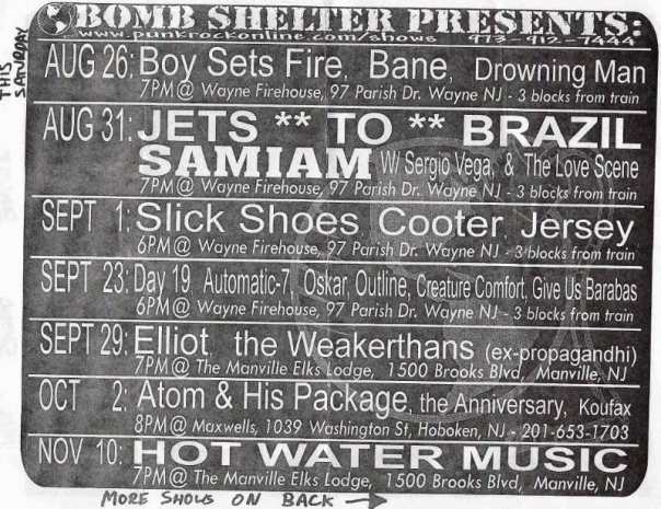 Bomb Shelter Shows 2000