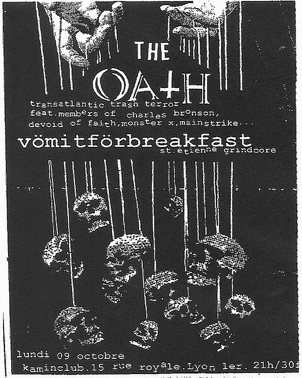 The Oath-Vomit For Breakfast @ Lyon France 10-9-00