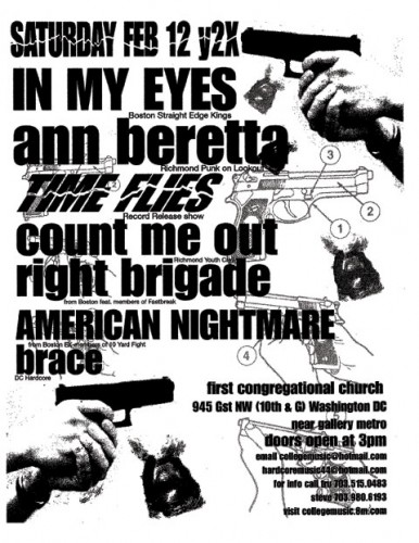 In My Eyes-Ann Beretta-Time Flies-Count Me Out-Right Brigade-American Nightmare-Brace @ Washington DC 1-12-00