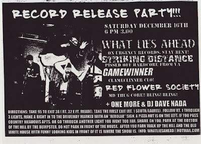 What Lies Ahead-Striking Distance-Game Winner-Red Flower Society @ Baltimore MD 12-16-00