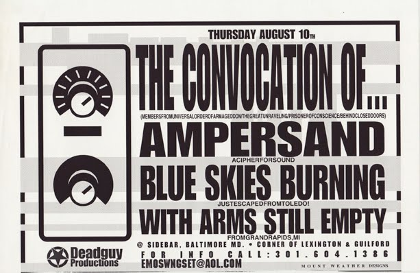 The Conviction Of…-Ampersand-Blue Skies Burning-With Arms Still Empty @ Baltimore MD 8-10-00