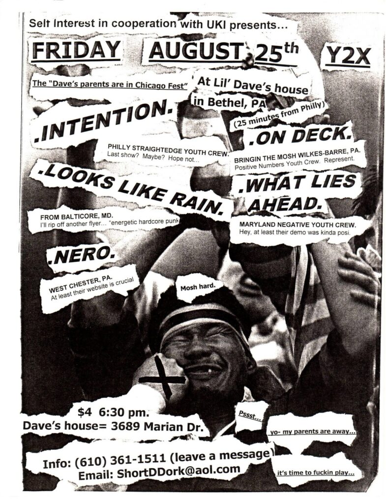 Intention-On Deck-Looks Like Rain-What Lies Ahead-Nero @ Bethel PA 8-25-00