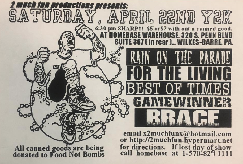 Rain On The Parade-For The Living-Best Of Times-Game Winner-Brace @ Wilkes Barre PA 4-22-00