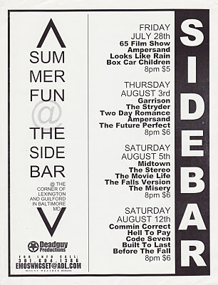The Side Bar Summer 2000