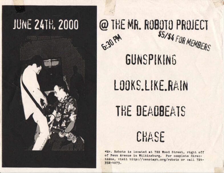 Gunspiking-Looks Like Rain-The Deadbeats-Chase @ Pittsburgh PA 6-24-00