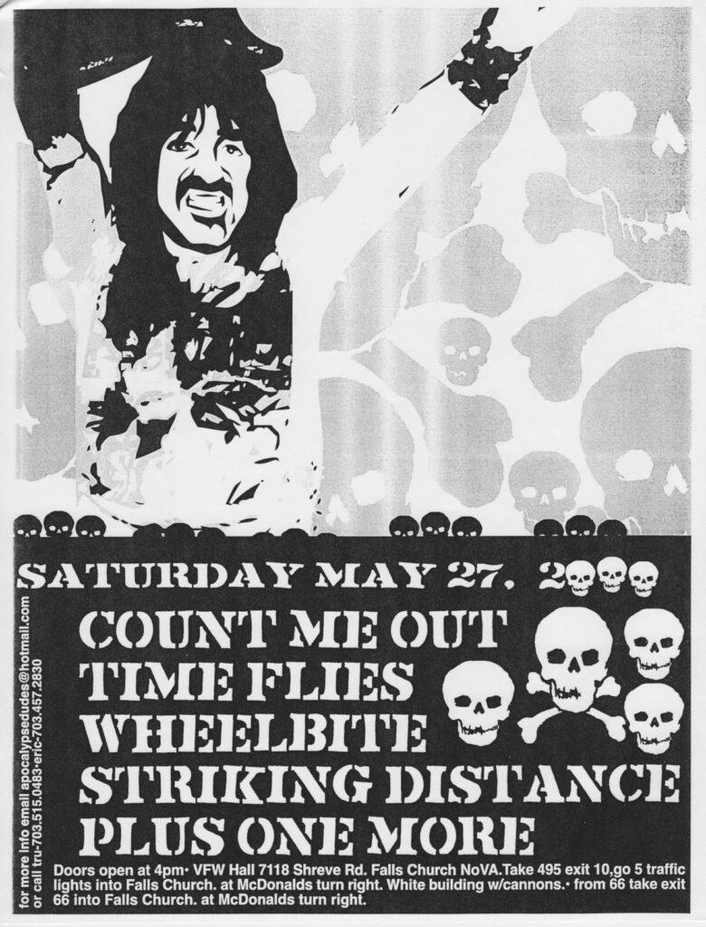 Count Me Out-Time Flies-Wheelbite-Striking Distance @ Falls Church VA 5-27-00