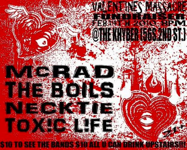 McRad-The Boils-Neck Tie-Toxic Life @ Philadelphia PA 2-4-10
