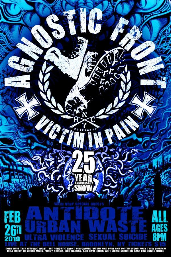 Agnostic Front-Antidote-Urban Waste-Ultra Violence-Sexual Suicide @ Brooklyn NY 2-26-10