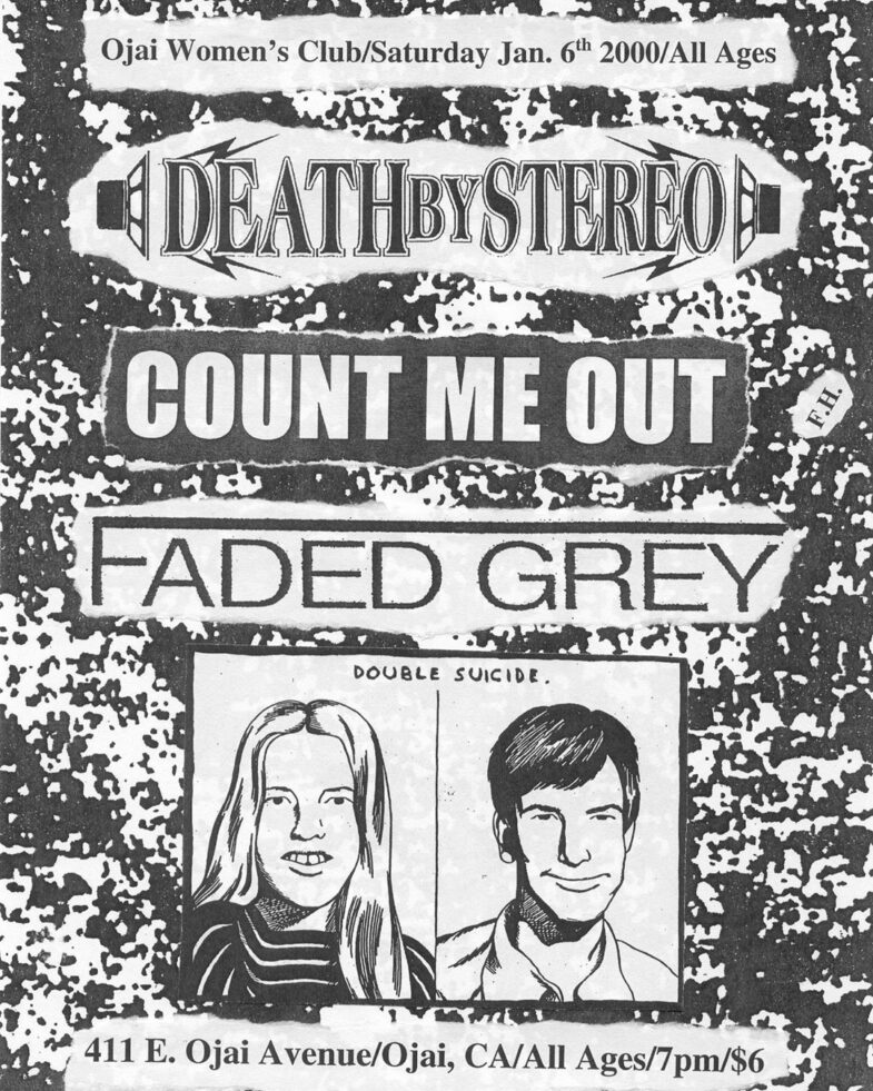 Death By Stereo-Count Me Out-Faded Grey @ Ojai CA 1-6-00