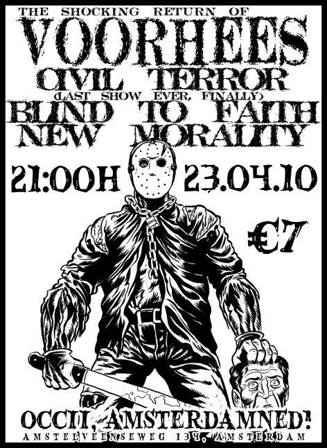 Voorhees-Civil Terror-Blind To Faith-New Morality @ Amsterdam Netherlands 4-23-10