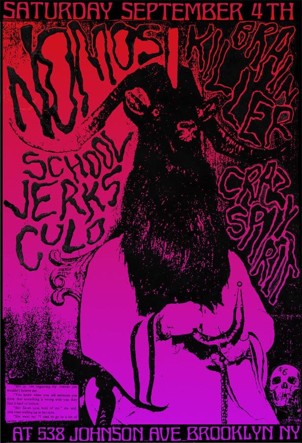 Nomos-Brain Killer-School Jerks-Crazy Spirit @ Brooklyn NY 9-4-10