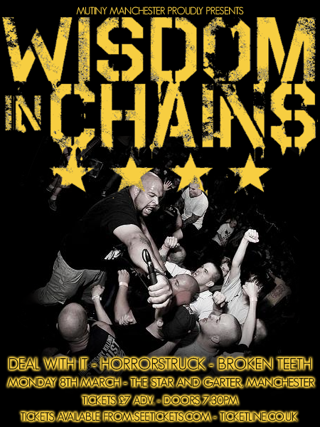 Wisdom In Chains-Deal With It-Horror Struck-Broken Teeth @ Manchester England 3-8-20