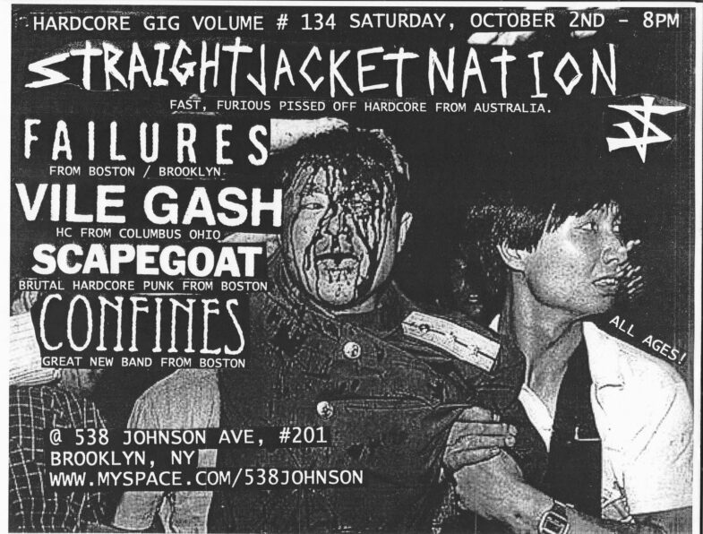Straight Jacket Nation-Failures-Vile Gash-Scapegoat-Confines @ Brooklyn NY 10-2-10
