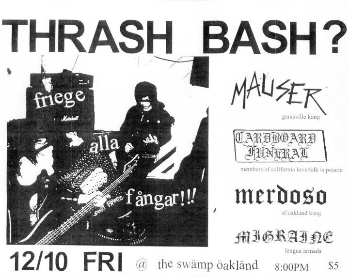 Mauser-Cardboard Funeral-Merdoso-Migraine @ Oakland CA 12-10-10
