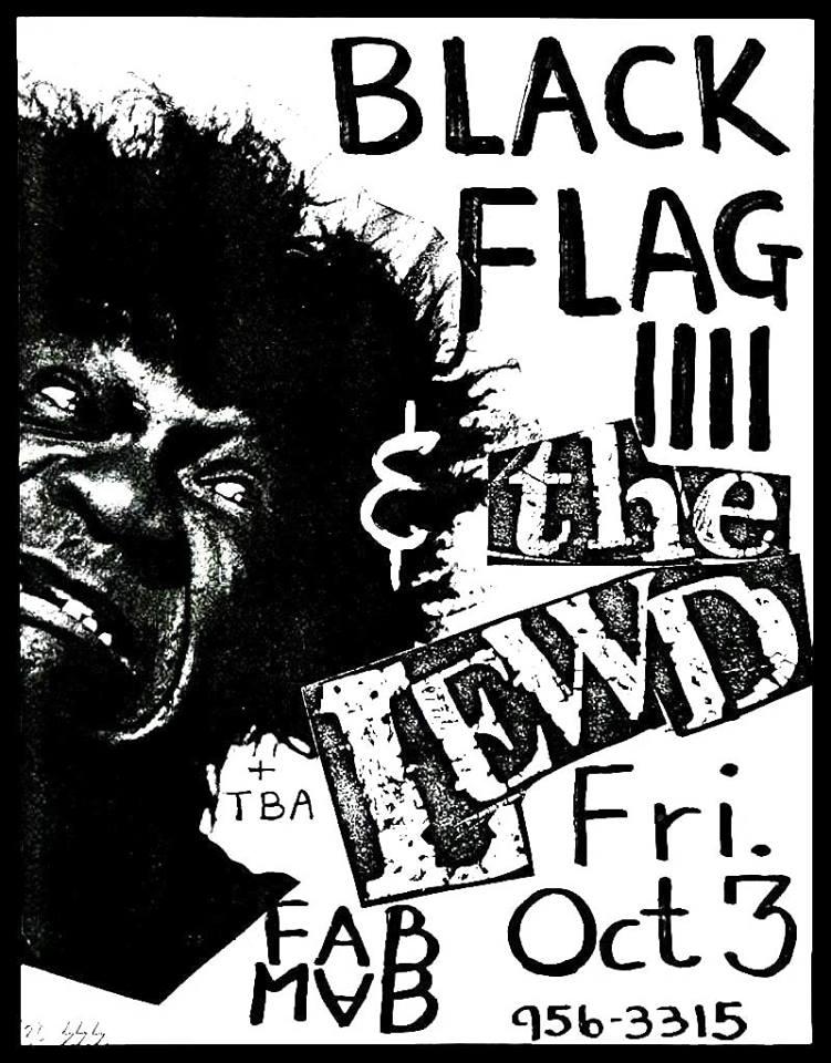 Black Flag-The Lewd @ San Francisco CA 10-3-81