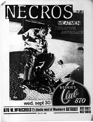 Necros-Meatmen-Negative Approach @ Detroit MI 9-30-81