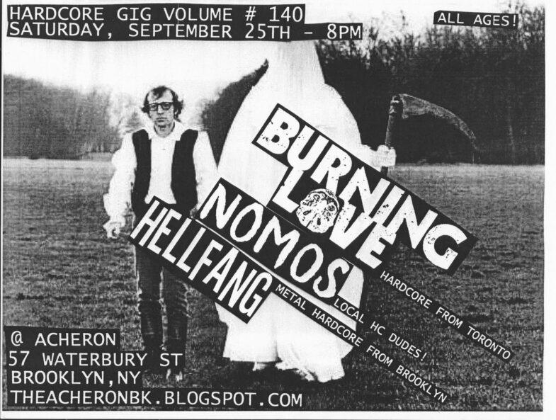 Burning Love-Nomos-Hell Fang @ Brooklyn NY 9-25-10