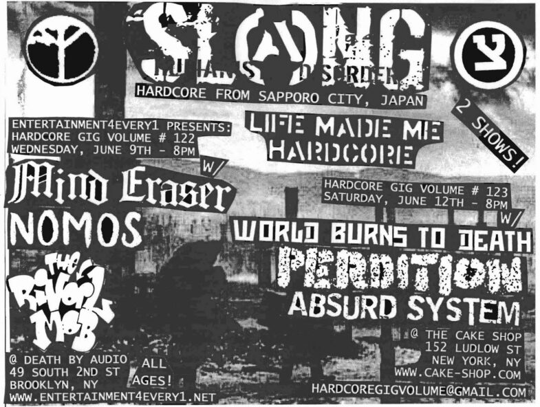 Slang-World Burns To Death-Perdition-Absurd System @ New York City NY 6-12-10