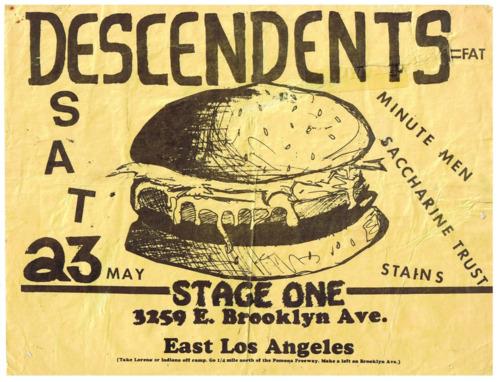 Descendents-Minutemen-Saccharine Trust-Stains @ Los Angeles CA 5-23-81